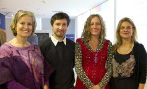 Patricia Reutter (Anilinas Montblanc), Andrés Vio (Artista Visual), Carolina Galaz (Artista Visual) y Madeline Hurtado (Fundación Mar Adentro)