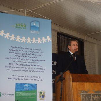 El Director de Fundación Mar Adentro, Juan Carlos Leppe, en la ceremonia de inauguración