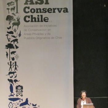 Iniciando el Congreso, Elisa Corcuera, Presidenta de la red Así Conserva Chile AG.