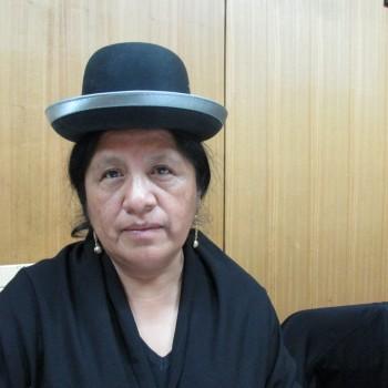 María Eugenia Choque, de la Red Internacional de Mujeres Indígenas sobre Biodiversidad
