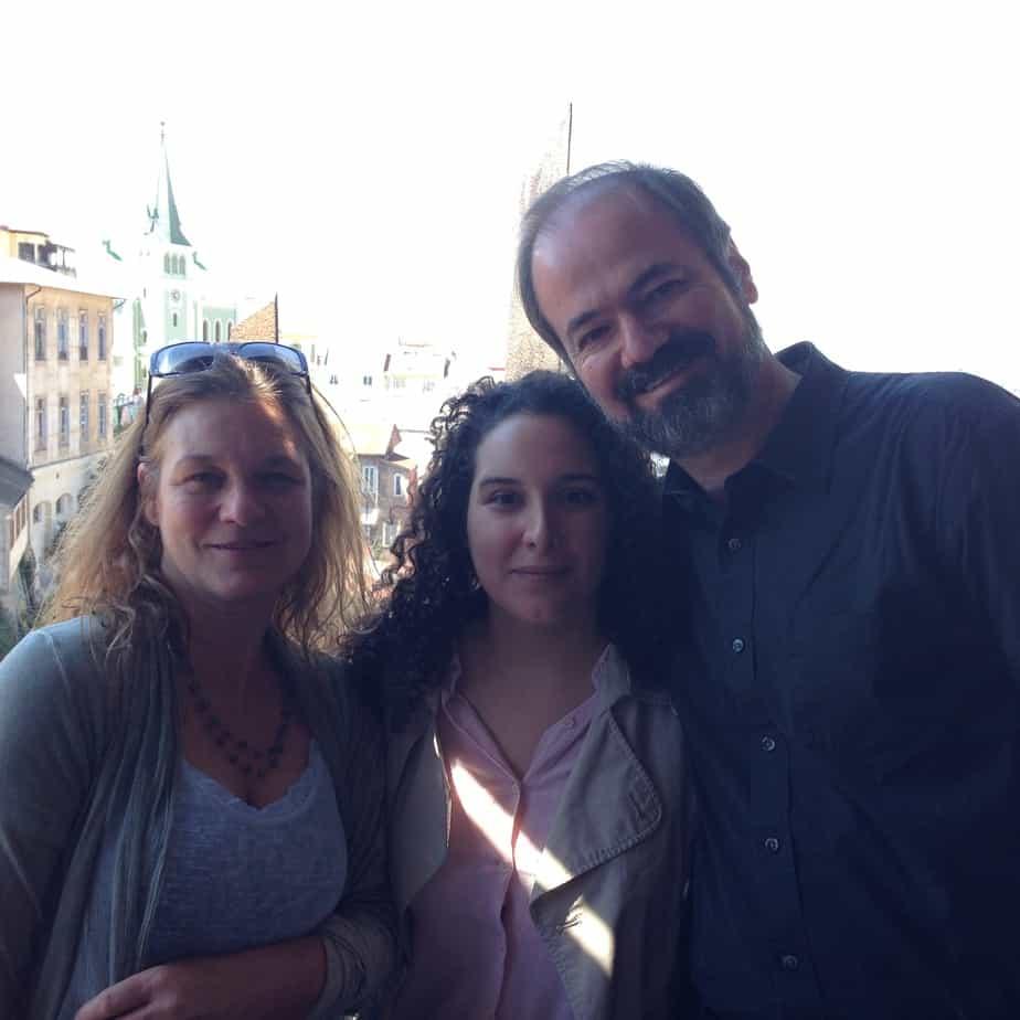 Junto al escritor mexicano Juan Villorio en Puerto de Ideas 2013