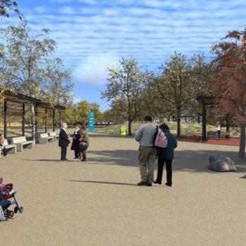 Imagen digital de la 'cintura' del futuro parque