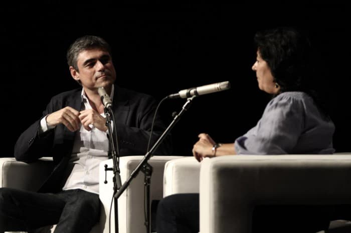 Pablo Simonetti y Almudena Grandes