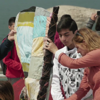 Fundación Mar Adentro en la acción de arte del Colegio Evangélico Jose Lancaster de Antofagasta