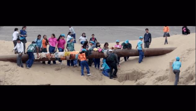 Fundación Mar Adentro en la acción de arte del Colegio Juan Pablo II en Antofagasta