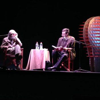 Cristián Warnken dialogando con Gastón Soublette, filósofo, musicólogo y esteta chileno en Puerto de Ideas 2013
