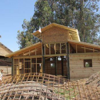 En construcción: uno de los galpones de la Escuela de Artes y Oficios