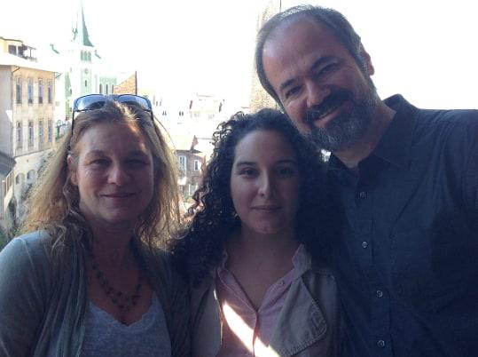 Junto al escritor mexicano Juan Villoro
