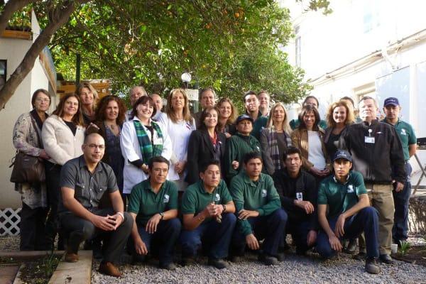 El gran equipo que logró la renovación del Jardín Terraza Los Naranjos