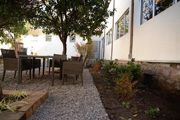 Una imagen del jardín post recuperación