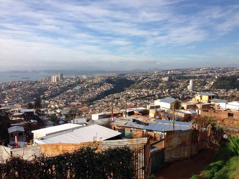 Vista panoramica quebradas de Valparaíso, Julio 2014