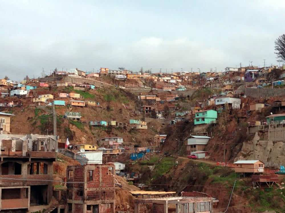 View of Valparaíso Hills, july 2014