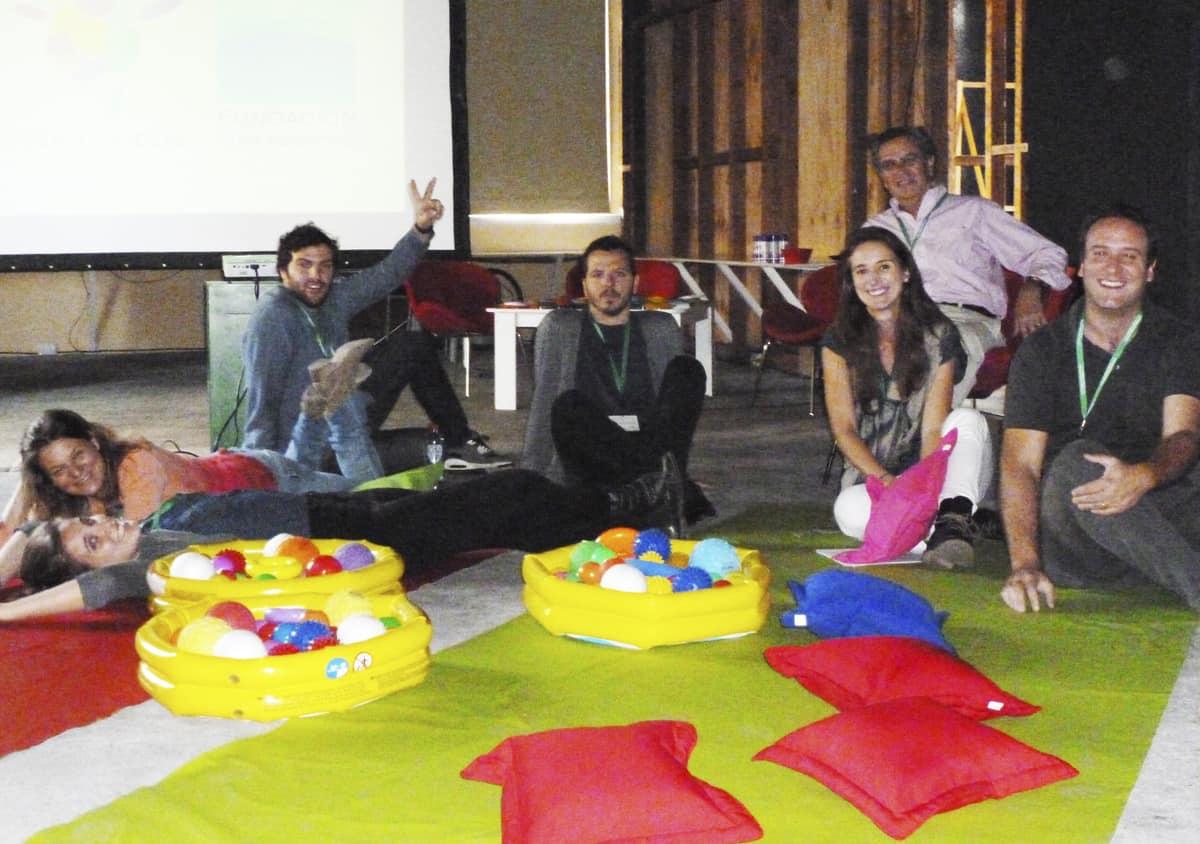 Nuestro equipo antes de iniciar el taller