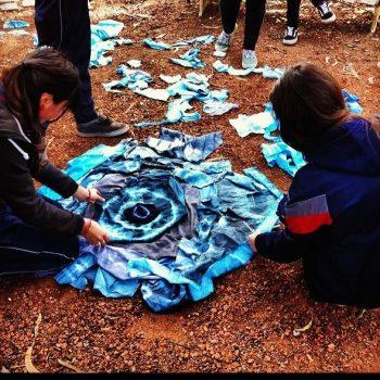 Alumnos realizan intervención en el paisaje