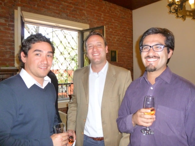 Diego Meneses, Diego Urrejola y Felipe Pimentel