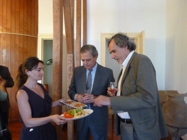 Pilar Santelices, Juan Carlos Leppe y Pedro Milos