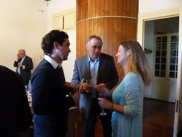 Diego Meneses, Alfredo Zolezzi y Madeline Hurtado