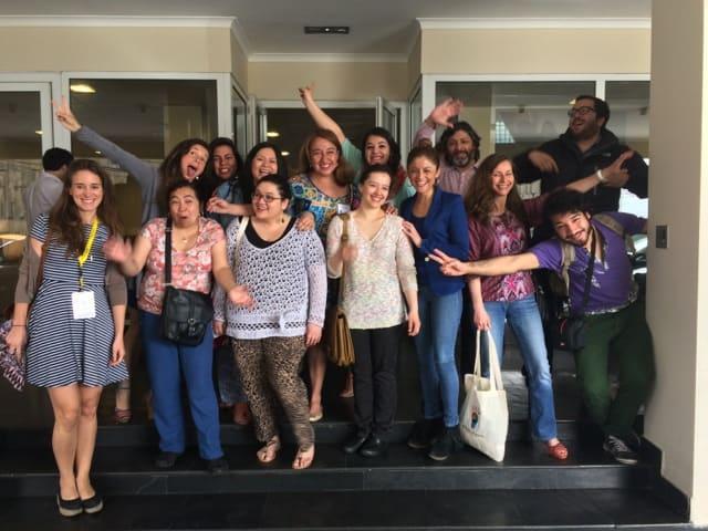 Los Profesores ganadores del Concurso Colorearte 2014, asistieron al festival