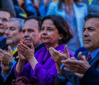 La Ministra de Cultura Claudia Barattinni en la inauguración del festival