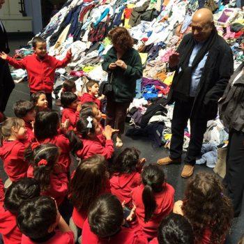 Christian Boltanski en su visita al Museo