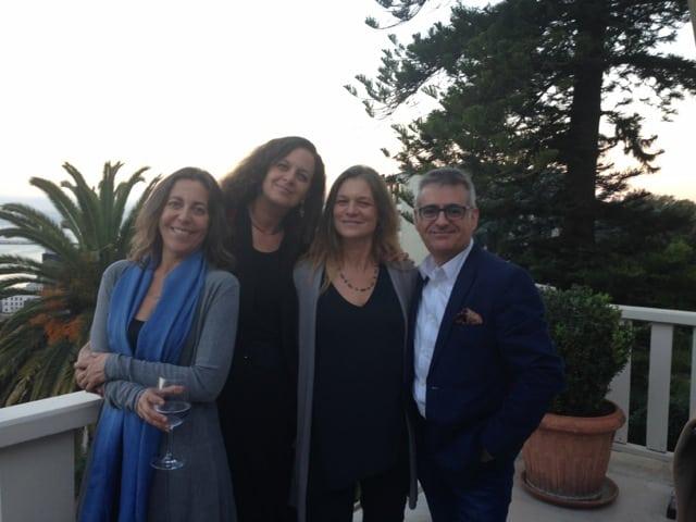 Paula Ortiz, Mary Anne Müller (Fundación Origen) , Madeline Hurtado (Presidenta de la Fundación Mar Adentro) y Antonio Fernández