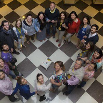Equipo de Fundación Mar Adentro junto a los profesores ganadores de Colorearte 2014