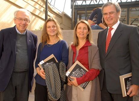 Fernando Montes SJ, Madeline Hurtado, de FMA, Pamela Hurtado, de Fundación Cosmos y Juan Carlos Leppe