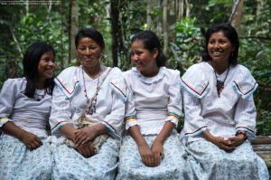 Members of the native community of Puerto Prado