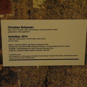 Ficha de obra en la Bienal de Venecia