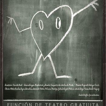 Afiche de Antibiografía, inspirado en la vida y obra de Nicanor Parra. Función de teatro gratuita para la isla de Quinchao