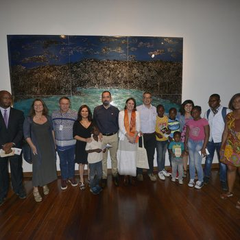 Opening of Imagine Landscapes by Haitian artist Edouard Duval-Carrié / Photo: Jorge Sánchez, Courtesy of GAM