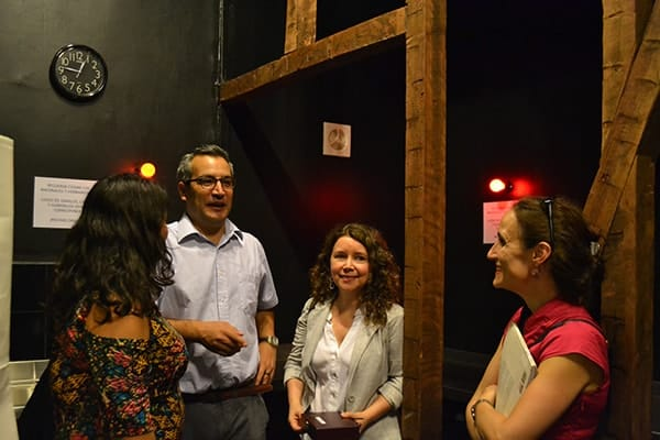 Members of the University came out to see the new darkroom