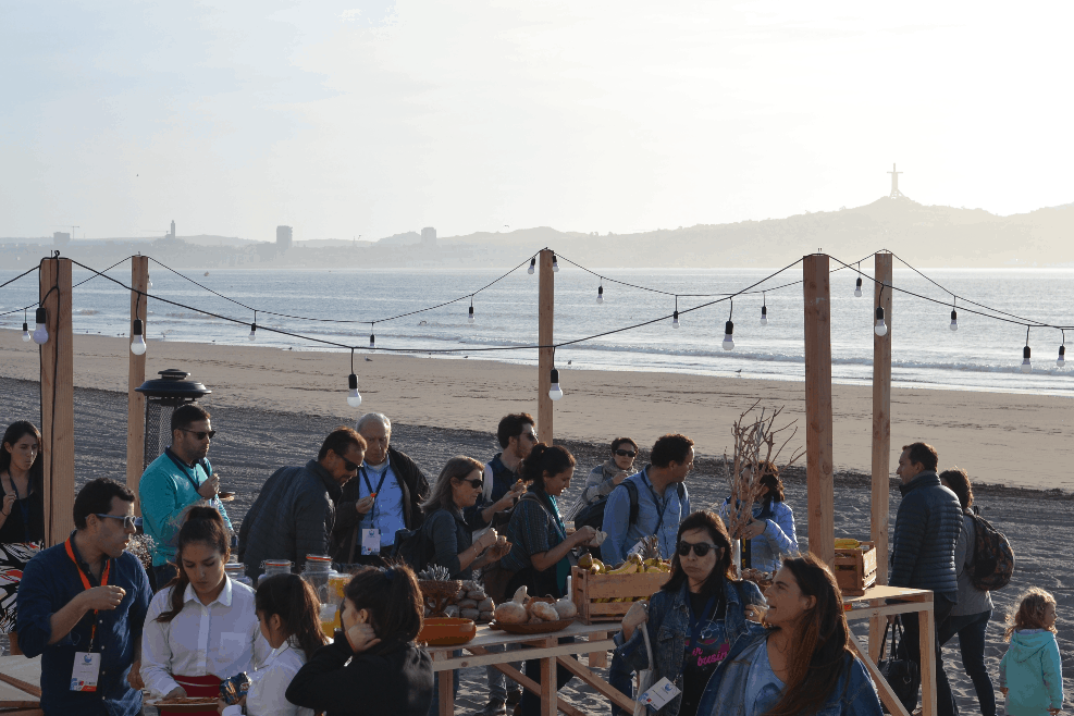 Opening event of Cubo Arte in Peñuelas Norte Beach during IMPAC4 in La Serena-Coquimbo, Chile