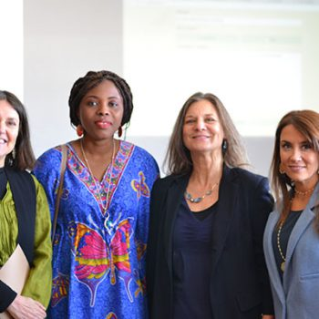 Beatriz Bustos O. y Madeline Hurtado junto a Berline Coimin y María Paz Aldunate, ¡muchas gracias por venir!