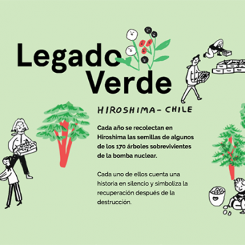 A screenshot of the legado verde website, www.legadoverde.cl