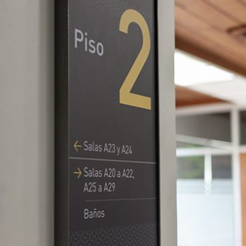 Identificadores de sala y edificios ©Sebastián Mejía