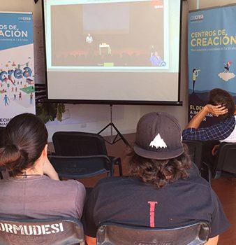 Streaming in Espacio CECREA in Iquique.