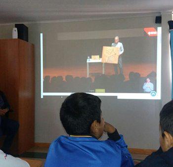 Streaming in the School Nuestra Señora de Andacollo, La Serena.