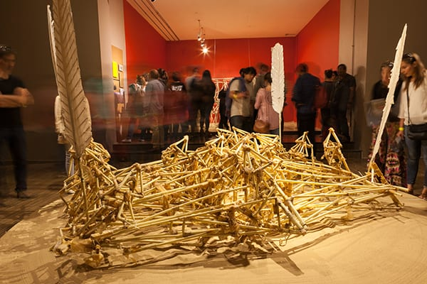 Animaris Vulgaris, first Strandbeest created by Jansen an importante key piece of this exhibition.  ©Sebastián Mejía