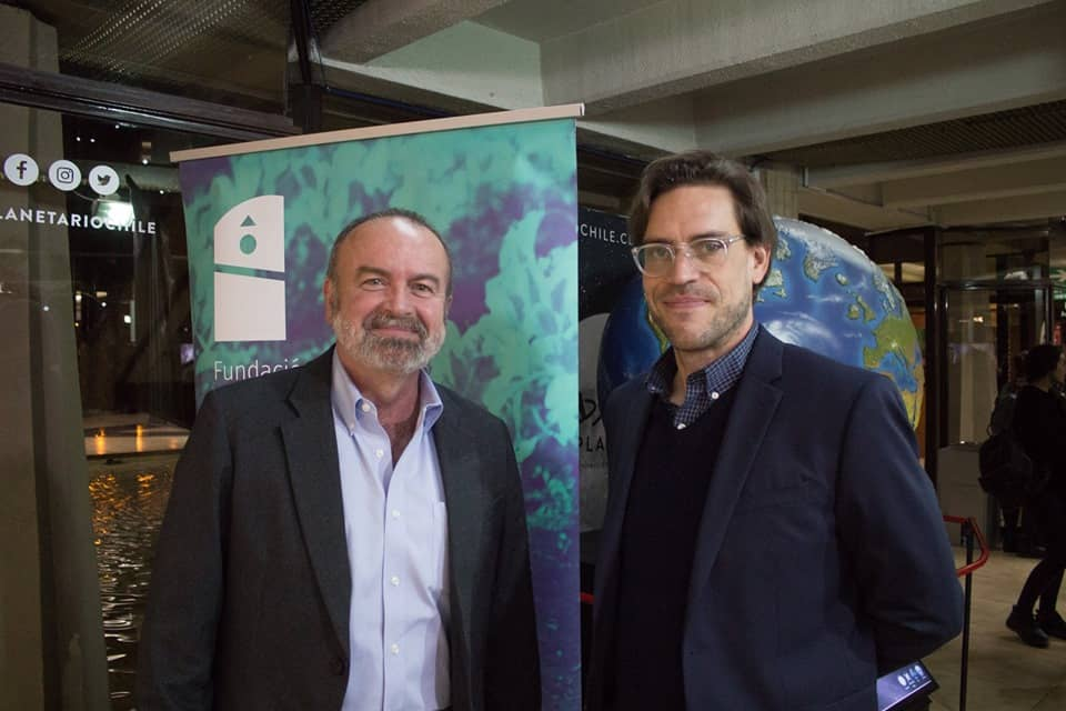 Brent Mitchell, Chair IUCN-WCPA Specialist Group on Privately Protected Areas y Tomas Dinges de Parque Andino Juncal.