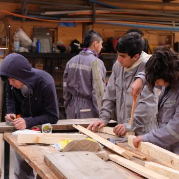 Students working on the final project.