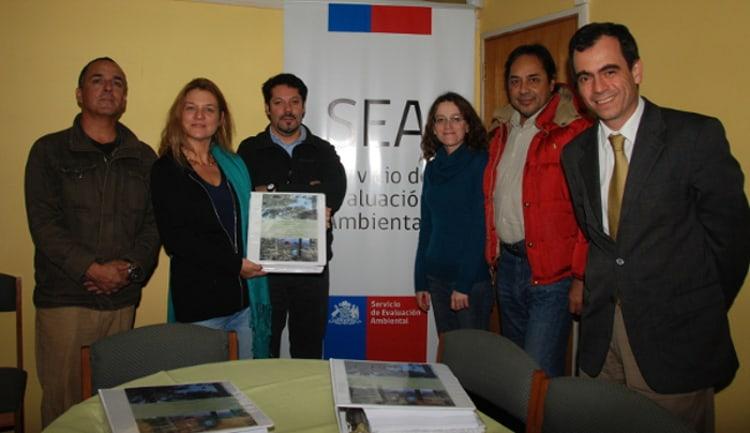 El equipo de profesionales que participaron en la elaboración de la Declaración de Impacto Ambiental de Parque Bosque Pehuén