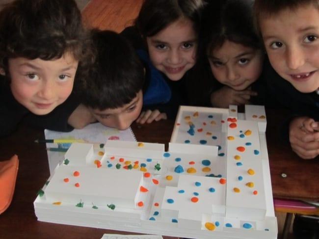 Students from the Octavia Palma School
