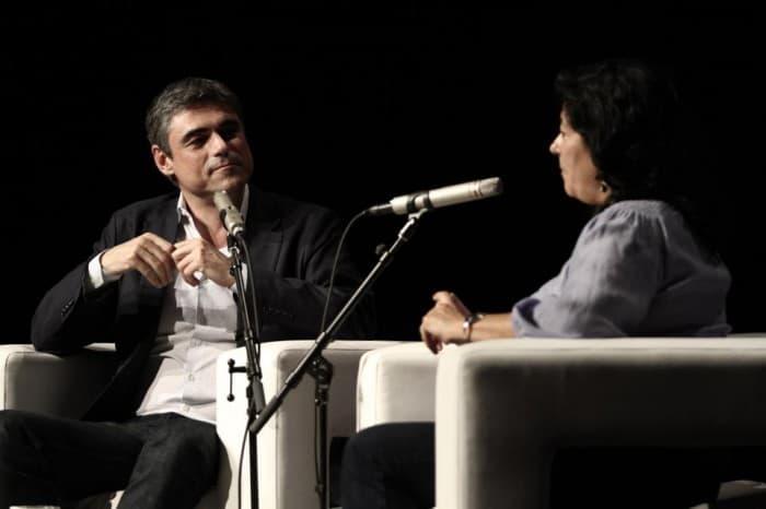 Pablo Simonetti and Almudena Grandes