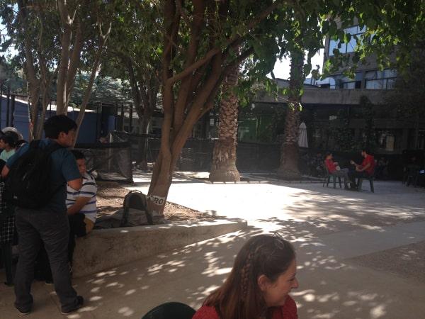 Campus courtyards