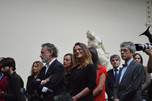 Roberto Farriol, director del MNBA, junto a Madeline Hurtado, Presidenta de Fundación Mar Adentro