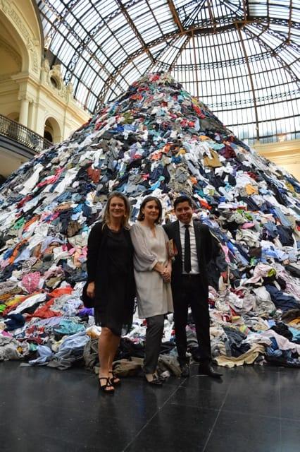 Madeline Hurtado and Beatriz Bustos beside Eduardo Ildefonso from Culture and Tourism Foundation of San Pedro de Atacama