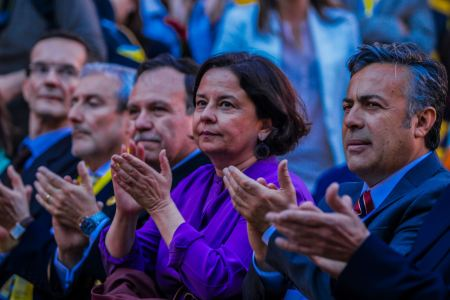 Chilean Minister of Culture, Claudia Barattinni on the opening ceremony