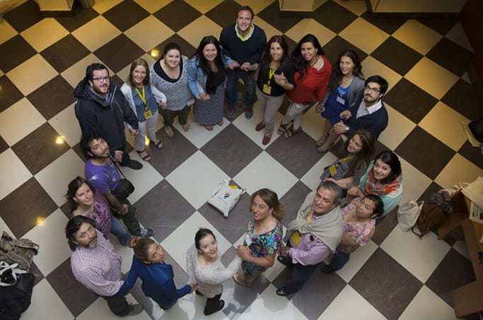 Mar Adentro Foundation Team,  with the group of teachers awarded for Colorearte 2014 Contest