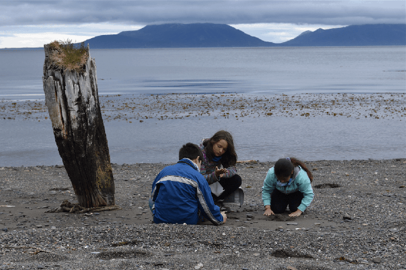 Students on site during the Naturalist Summer Camp in Cape San Isidro